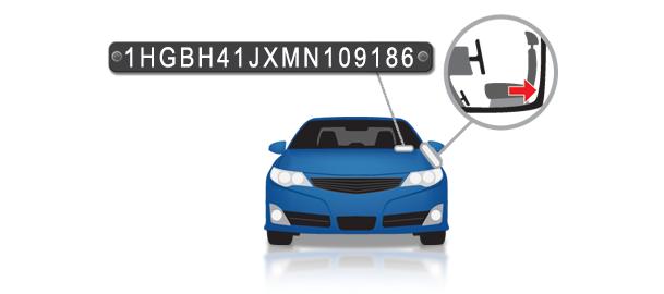 Sõiduki tasutakontroll VIN koodi kontroll VIN asukoht